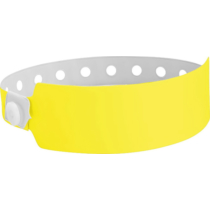 Plastikband Wide Face, neongelb (30 mm)