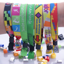 Stoff Kontrollband mit Plastikverschluss (15 mm)