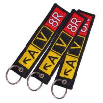 Gestickte Schlüsselanhänger mit vierfarbigem Druck