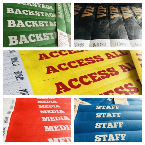 """Tyvek Kontrollband """"ACCESS ALL AREAS"""""""
