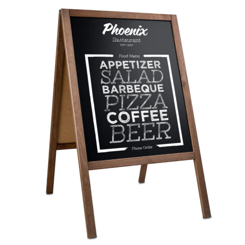 Kundenstopper Holz 60 cm x 80 cm