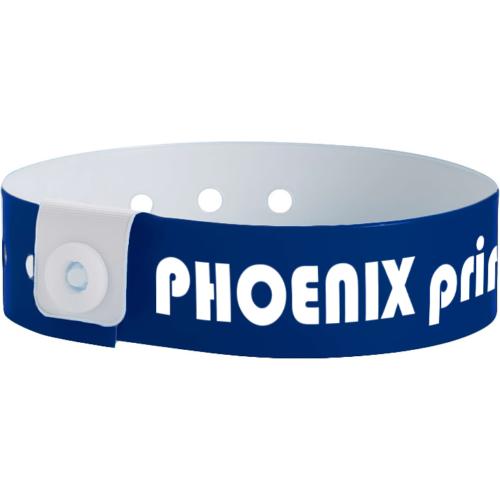 Dunkelblaues Plastikband L-form mit Druck (19 mm)