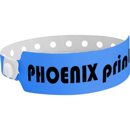 Neonblaues Plastikband Wide Face mit Druck (30 mm)