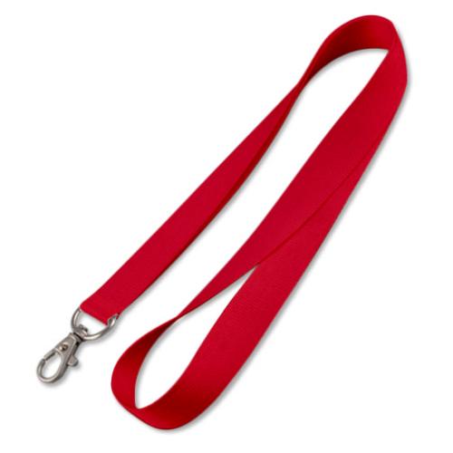 Lanyard ohne Druck, rot (15 mm)